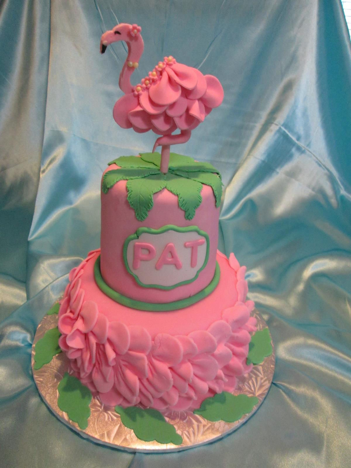 Flamingo Cake by Leonor Rodriguez